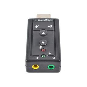 Adaptador Usb Saída P2 Audio E Microfone C/ Controles Do Som