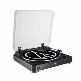 Toca Discos Vitrola At-lp60bk Usb Audio Technica 110v Lp60