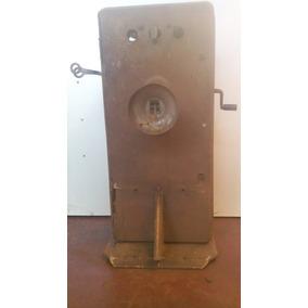 Telefone Antigo De Parede Manivela - Para Restauração