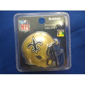 98a1233e841da Mini Casco Nfl Pocket Size - New Orleans Saints - Nuevo