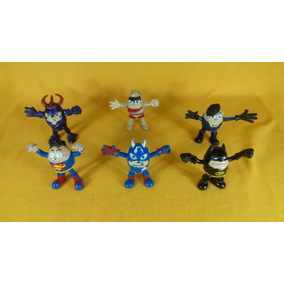 6 Figuras Huevos Cartoon Super Heroes De Colección 10 Cm