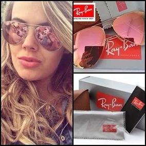 Óculos De Sol Ray Ban Rb3025 Prata Rose Espelhado. 6 vendidos - São Paulo ·  Ray Ban Aviador Rb3025  3026 3028 Unissex 65945b854a