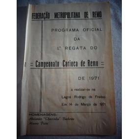 Federação Metropolitana Remo Programa Oficial 1ª 70/71 2uni