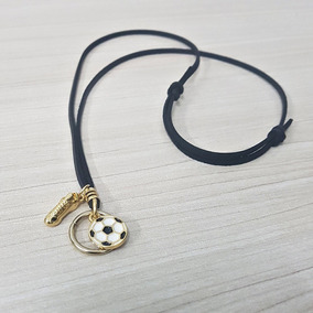 Colar Pingente Bola Futebol - Joias e Bijuterias no Mercado Livre Brasil c83fdffab996b