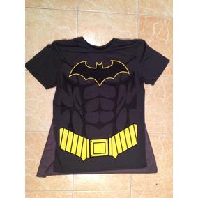 Batman Dc Comics Playera Hombre Talla M Con Capa Jl