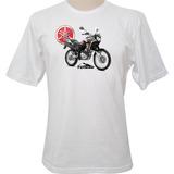 Camiseta Motocicleta Yamaha Tenere 250 Marrom