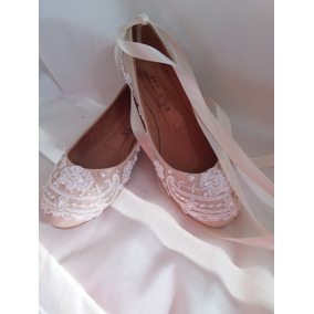 89d7da37 Zapatos De Mujer Para Boda De Encaje - Ropa, Bolsas y Calzado Blanco ...