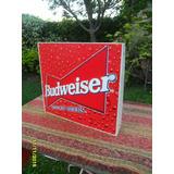 Cartel En Chapa Doble Faz De Cerveza Budweiser No Quilmes