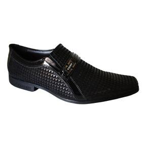 Sapato Calvest Fivela Todo Detalhado - 3140c415 Preto