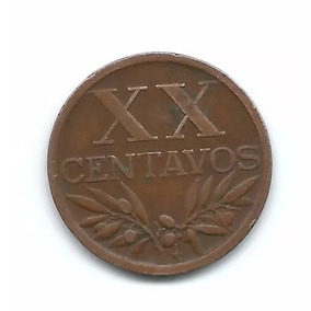Moeda Portugal - Xx Centavos -republica Portuguesa- Ano 1949