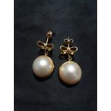 Aretes De Oro Con Perlas