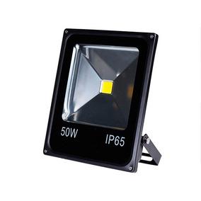 Refletor De Led - 50w - 32x24cm - Black - 6000k Br. Frio