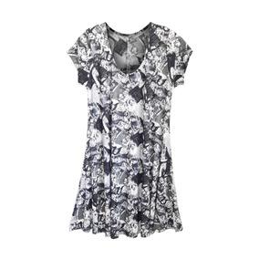 31ebc853c Vestido Feminino Plus Size Liganete Estampada Evasê C Mangas. 4 cores