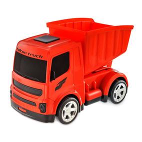 Brinquedo Truck Basculante ( Vermelho, Branco E Amarelo)