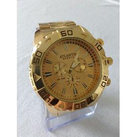 Relógio Dourado Original G-3243 Masculino Atlantis Sports