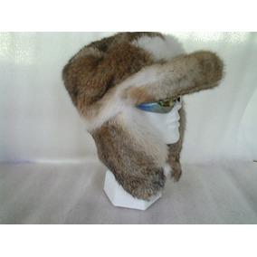 Gorro Piel De Conejo Modelo Cazador