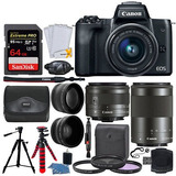 Canon Eos M50 Mirrorless Digital Slr Camera - 3 Lens Kit 64g