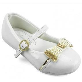 40c47e07ebd Sapato Infantil Festa Menina Branco Batizado Daminha Luxo