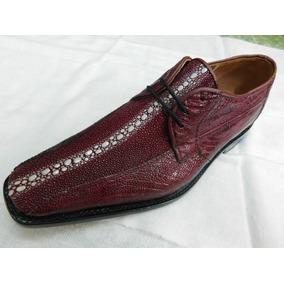 80e723f0ba2 Zapato Exotico Mantarraya Reyna Con Pata De Avestruz