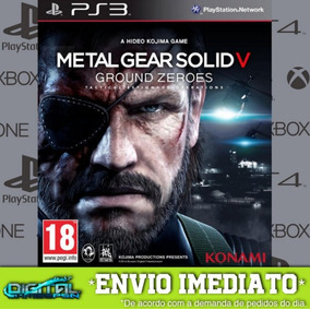 Metal Gear Solid V Ground Zeroes Ps3 Psn Imediato!
