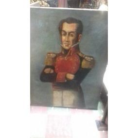 Cuadro Al Oleo Antiguo 1944 Simon Bolivar