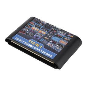 Cartucho Mega Drive 123 Com 112 Jogos Em 1 Multi Games