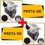 a11f1ab026358 2 Mascara Airsoft Meia Face Metal Proteção Preta Skull Cb