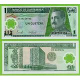 Billete De Guatemala 1 Quetzal 2006, P-109 Unc, Mlc