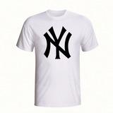 Camisa Camiseta Estampada New York Yankees Time Beisebol d1c5c21ab0c