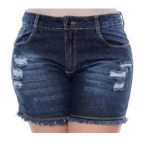 Kit 03 Short Jeans Feminino Plus Size 2 Ao 56 Hot Pant
