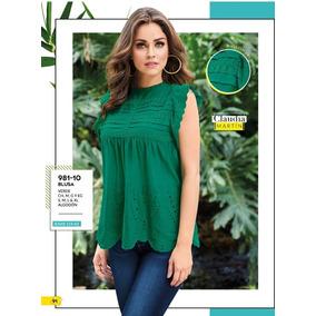 Blusa Verde C/tira Bordada Cklass 981-10 Pv19