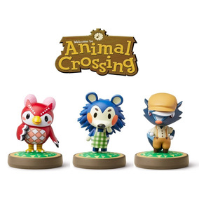 Kit Animal Crossing 3 Amiibos Celeste + Mabel + Kicks