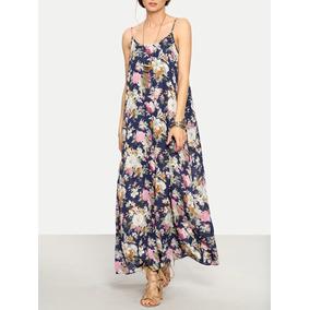 Maxi Vestido Floral Playa Moda Shein