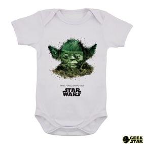Body Infantil Star Wars Mestre Yoda Geek Nerd Bebê 36 bdf90465cc2