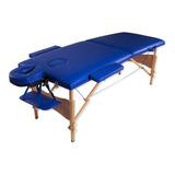 Camilla Masajes Profesional Madera Azul Y Bolso R3350