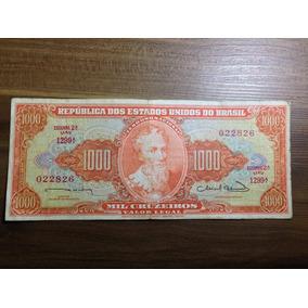 Cédula 1000 Cruzeiros Sob/fe - 2° Est - 1° Série - N°22826