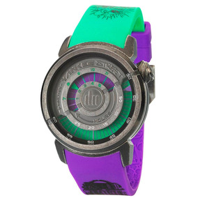 Relógio Unissex Analógico Yankee Street Extreme Roxo/verde