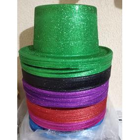 24 Sombrero Copa Mago Brillantina Diamantina Brillos Color 510de1748ac