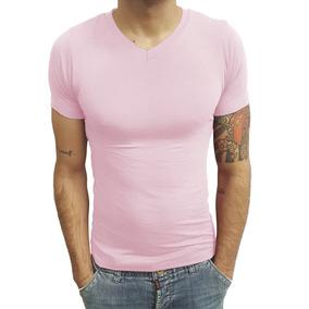 5 Camisas Camiseta Gola V Rasa Masculina Viscose Manga Curta ffb580c5b58ed