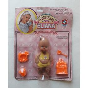 Boneca Chuquinhas Da Eliana Antiga - Negra - Praia