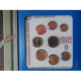 Folder Com 1ª Emissão Do Euro Na Itália