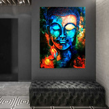 Cuadro Buda Moderno Abstracto Colores En Canvas