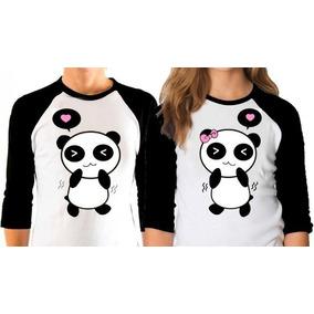 Regalo Novio Novia 2 Playeras Personalizadas Panda