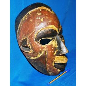 Antiga Máscara Rara Ritualística Tribal Africana Original