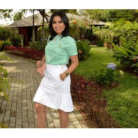 Blusa Feminina Verde-claro Com Aplicação De Pontos De Luz