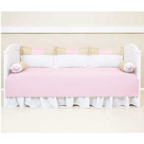 Enxoval Biramar Para Sofa Cama Lollipop Patch rosa