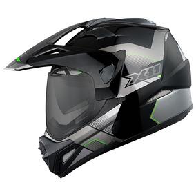 Capacete X11 Crossover X3 Preto Neon Com Viseira Solar