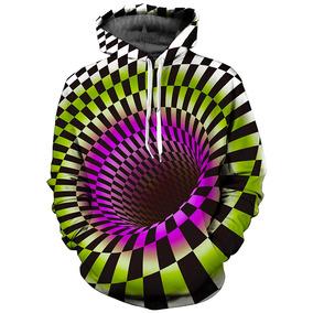 Sudadera Con Capucha 3d Swirl Con Estampado De Pullover