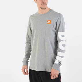 Camisa Nike Manga Longa Nsw Tee Just Do It Masculino Ar5197 305de0dcf920a