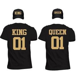 Par De Playeras Y Par De Gorras Novios King Queen, Pareja
